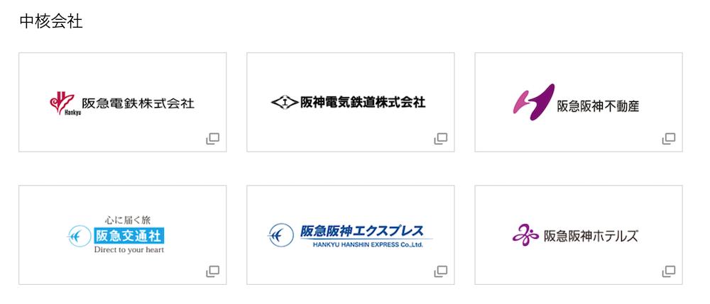 阪急阪神HDの中核会社